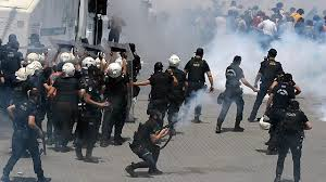 rioter in turkey