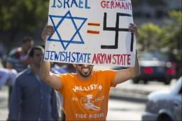 anti jewish protest